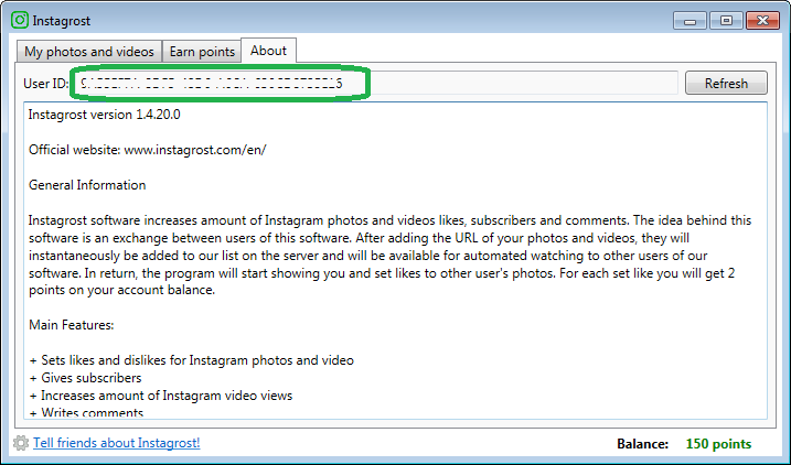 What is User ID in Instagrost